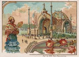 CHROMO NOUVELLE MACHINE A COUDRE SINGER  EXPOSITION DE 1900   PORTE MONUMENTALE - Andere