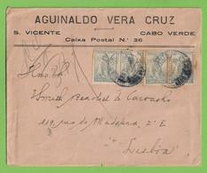 História Postal - Filatelia - Carta - Cover - Letter - Stamps - Timbres - Philately - S. Vicente - Cabo Verde Portugal - Kapverdische Inseln