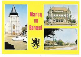 59 - Souvenir De MARCQ EN BAROEUL - Ed. La Cigogne N° 59.378.08 - Multivues Avec Blason - Citroën Dx Ami6 - Marcq En Baroeul