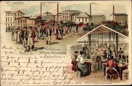 Lithographie Bad Salzuflen Im Kreis Lippe, Hoffmanns Stärkefabriken, Arbeiter, Cartonnage - Altri