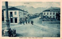 76866- Fonte Treviso Plazza One E Via In Venetien Südtirol Italien Um 1920 - Treviso