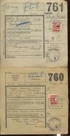 4 X Demi Timbrer Sur Document. Toutes Les Possibilités - 1923-1941