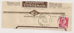 LUXE Charente. Papeterie De VILLOGNON. 1955 - 1921-1960: Période Moderne