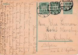 ALLEMAGNE EMPIRE AFFRANCHISSEMENT COMPOSE SUR CARTE DE BONNPOUR LA BELGIQUE 1926 - Brieven En Documenten