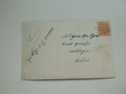 Stempel ( 697 )  Afstempeling Op Fantasiekaart   -   Griffe  Lijnstempel Op Zegel  MELSELE  -  Noodstempel - Noodstempels (1919)