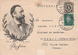 ALLEMAGNE EMPIRE AFFRANCHISSEMENT COMPOSE SUR ENTIER DE NIEDERSCHELDEN  POUR LA FRANCE 1931 - Brieven En Documenten
