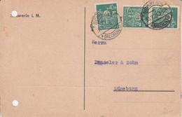 ALLEMAGNE EMPIRE AFFRANCHISSEMENT COMPOSE SUR ENTIER DE HAMBOURG POUR LA FRANCE 1926 - Brieven En Documenten