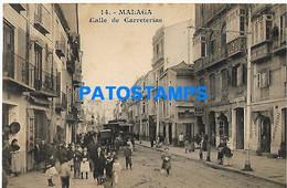 148196 SPAIN ESPAÑA MALAGA ANDALUCIA STREET CALLE DE CARRETERIAS & TRAMWAY TRANVIA SPOTTED POSTAL POSTCARD - Ohne Zuordnung