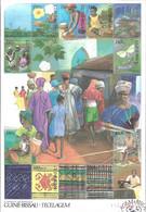 GUINEA - BISSAU 1991  Textile 1st Day Stamp - Guinea-Bissau