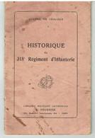 Historique Du 318ème Régiment D'Infanterie - Grande Guerre 1914-1918 - 1914-18