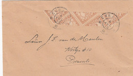 Curacao Cover 1918 (sliced Stamps) - Curaçao, Nederlandse Antillen, Aruba