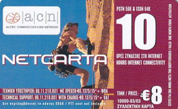 GREECE - Extreme Sports/Climbing, Netcarta By ACN Internet Prepaid Card 8 Euro(10 Hours), Tirage 10000, 03/03, Sample - Sport