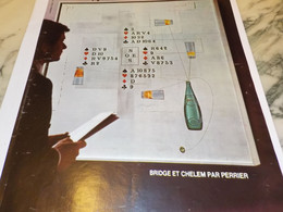 ANCIENNE PUBLICITE  BEIDGE ET CHELEM  PAR PERRIER  1974 - Perrier