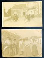 Lot De 2 Petites Photographies Originales La Roche Derrien  En Juin 1906   -- Près De Tréguier  AVR20-186 - Lieux