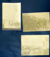 Lot De 3 Petites Photographies Originales Ile De Bréhat  En  1905 -- Embarquement à L' Arcouest Près Paimpol  AVR20-186 - Lieux