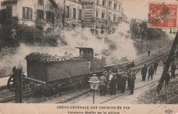 Grève Des Cheminots En 1910,locomotive Dételée Par Les Grévistes/chemin De Fer - Streiks