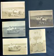 Lot De 5 Petites Photographies Originales La Roche Jaune Rivière De Tréguier En Juillet 1907  AVR20-186 - Lieux