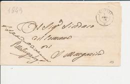 PREFILATELICA -  DA CHIAVARI 9 AGOSTO 1849 - 1. ...-1850 Prephilately