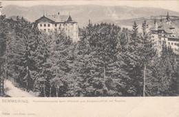492)  SEMMERING - Hochstraßenpartie Beim WALDHOF U. Südbahn Hotel Mit Raxblick LITHO - Semmering
