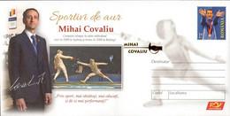 Romania / Postal Stationery / Mihai Covaliu - Escrime