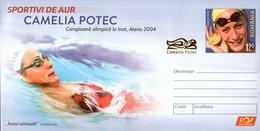 Romania / Postal Stationery / Camelia Potec - Natation