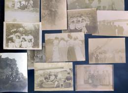 Lot De 13 Petites Photographies De Tréguier 1905/6/7/8   AVR20-186 - Lieux