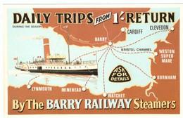 N2L6 England Daily Trips Barry Cardiff Bristol Clevedon Burnham Lynmouth Minehead Watchet Barry Railway Steamers - Koopvaardij