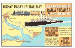 N2L6 England Great Eastern Railway Combined Steamer Excursions Felixstowe Orwell Ipswich Harwich  Norfolk Suffolk Essex - Koopvaardij
