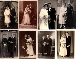 Lot De 8 Carte Photo Originale Mariage Et Couples De Mariés En Studio Kraus, Kugler, Stallechner - Trostberg, Bodenbach, - Personas Anónimos