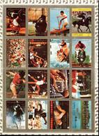 Ajman 1973 Mi# 2605-2620 A Used - Block Of 16; Folded - Summer Olympics, Munich (VIII) - Ajman