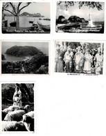 Lots 5 MINI-PHOTOS: 6x9cm - Grèce -  Corfou - Procession, Bergère Et Vues - Riproduzioni