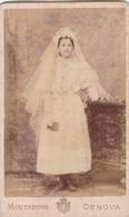 Photo Foto - Formato CDV - Giovane Sposa -Years '1870/'80 - Montabone, Genova - Oud (voor 1900)
