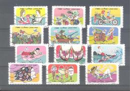France Autoadhésifs Oblitérés (Série Complète : Vacances, Espace, Soleil, Liberté) (lignes Ondulées) - Used Stamps
