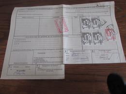 Lot De 13 Lettres De Voiture Avec Les Derniers Timbres Du Chemin De Fer Valables! (années 90) Bureaux Flamands Différent - Otros