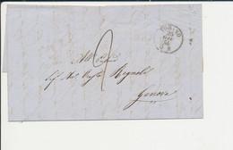 PREFILATELICA -  DA  TORINO PER GENOVA 25 GIUGNO 1856 - 1. ...-1850 Vorphilatelie