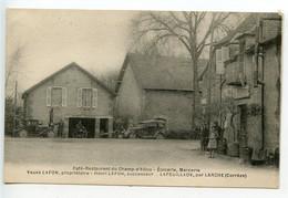 La Feuillade Café Restaurant Du Champ D'Allou (très Rare Carte De Cette Commune) - Altri Comuni