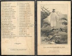 MEMENTO VILLE DE  WORMHOUDT MORTS OU DISPARUS GUERRE 1914-1918 - Décès