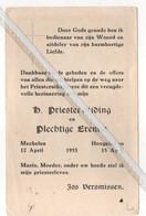 HOOGSTRATEN..1953.. PLECHTIGE EREMIS VAN JOS VERSMISSEN - Santini