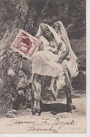 CPA Tunisie - Mauresques Et Bourriquots (très Jolie Scène) - Avec Jeune Femme Seins Nus - Carte écrite De Bizerte - Túnez