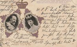 AK Edward VII Queen Alexandra - Relief Print - 1901 (52906) - Case Reali