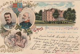 AK Ein Gott Ein Recht Eine Wahrheit - Hurra Drei Großherzöge - Oldenburg - Litho - Damme 1899 (52907) - Case Reali