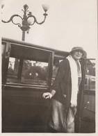 9723 Bis. Vintage Photo Old Foto Donna Woman Femme Auto Car Voiture Italia 10x7,5 - Auto's
