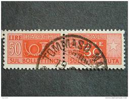 """ITALIA Repubblica Pacchi -1946-51-""""Corno Cifra"""" £. 50 US° (descrizione) - Postal Parcels"""