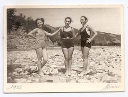 Photo Originale , Femmes En Maillot De Bain , Dim. 8.5 Cm X 5.5 Cm - Anonieme Personen