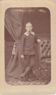 Photo Foto - Formato CDV - Bimbo Con Calzettoni A Righe -Years '1870 - Rafael Castillo, Lima Peru' - Oud (voor 1900)