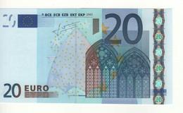 "20 EURO  ""V""   Spain   Firma Trichet   M 022 A4   / FDS - UNC - 20 Euro"