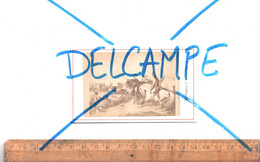 Photographie CDV C.1870 : Tableau Guerre Napoléonienne / Napoléon /  Wellington à La Bataille Waterloo - Oorlog, Militair