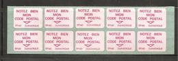 France, Document La Poste, Vignette, Notez Bien Mon Code Postal, 59140 Dunkerque, Neuf **, TTB - Documents Of Postal Services