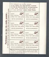 France, Document La Poste, Vignette, Quand Vous M'écrivez Utilsez Mon Code Postal, 59140 Dunkerque, Neuf **, TTB - Documents Of Postal Services