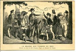 75016 PARIS - BOURSE AUX TIMBRES 1860 - Exposition Philatélique Paris 1941 - Cachet Et Timbre - Gravure Bois - District 16